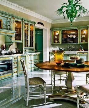 Кухня Малахитовая шкатулка